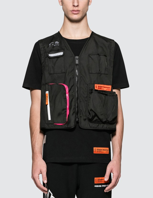 Heron Preston Nylon Tool Vest Jacket