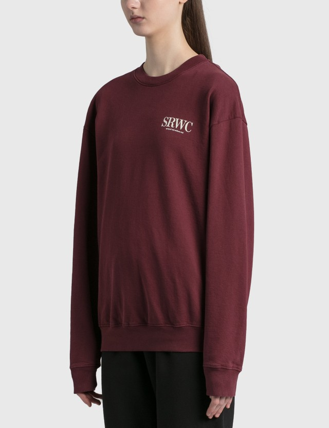 Sporty & Rich Upper East Side Crewneck Merlot/cream Women