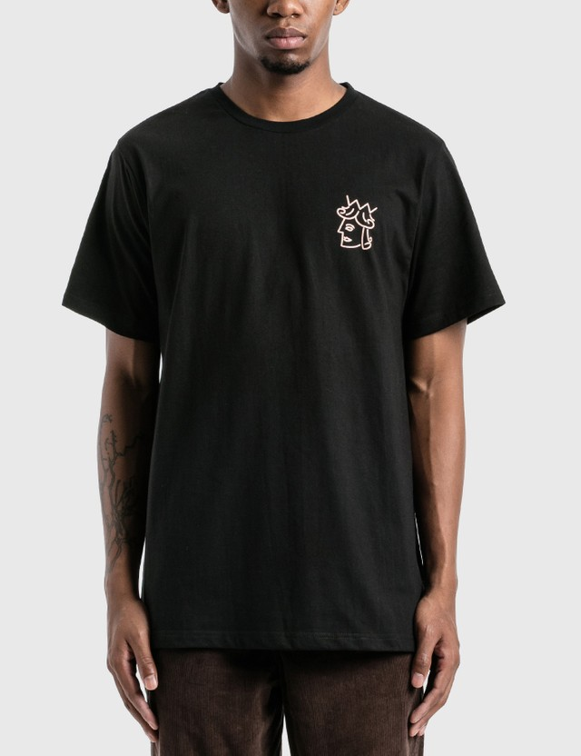 Victoria Queenhead Logo T-Shirt Black / Peach Men