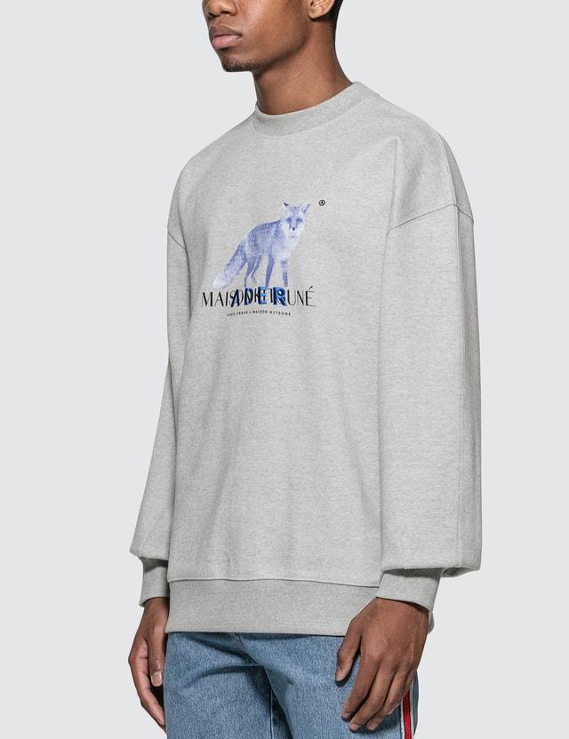 Maison Kitsune Ader Error x Maison Kitsune Bitmap Fox Sweatshirt
