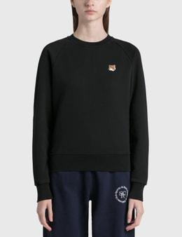 Maison Kitsune Fox Head Patch Adjusted Sweatshirt