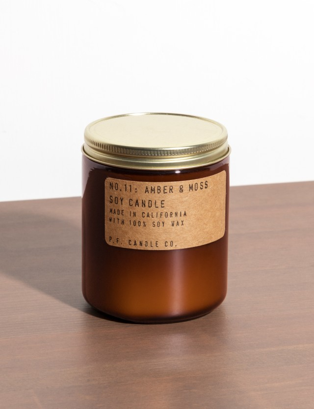 P.F. Candle Co. Amber & Moss Standard Soy Candle N/a Unisex
