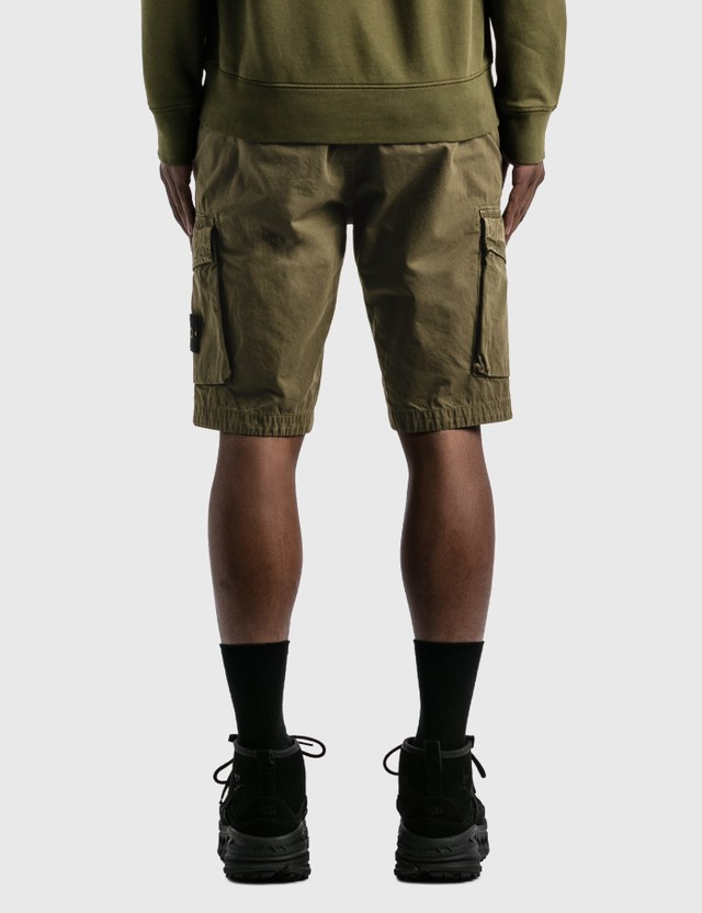 Stone Island Flap Pockets Cargo Shorts Olive Men
