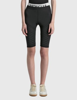 Moncler Matt Technical Stretch Shorts With Mesh