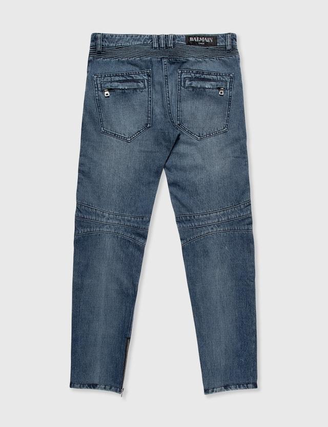 Balmain Balmain Biker Jeans Blue Archives