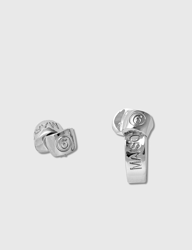 MM6 Maison Margiela Knot Stud Earrings