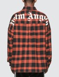 Palm Angels Check Logo Over Shirt