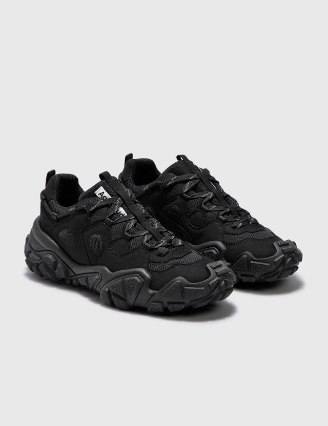 Acne Studios Bolzter W Tumbled Sneakers Black/black Women