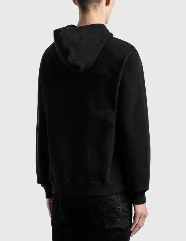 Saint Laurent Saint Laurent 50's Signature Hoodie Noir/naturel Men