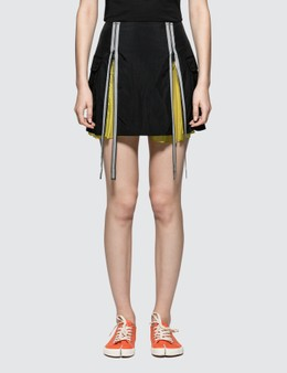 Maison Margiela Nylon Slighly FroisÈ Mini Skirt