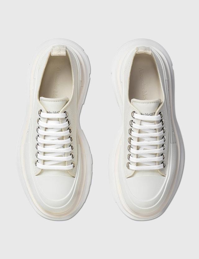 Alexander McQueen Tread Slick Lace Up Sneaker White/white/white Women