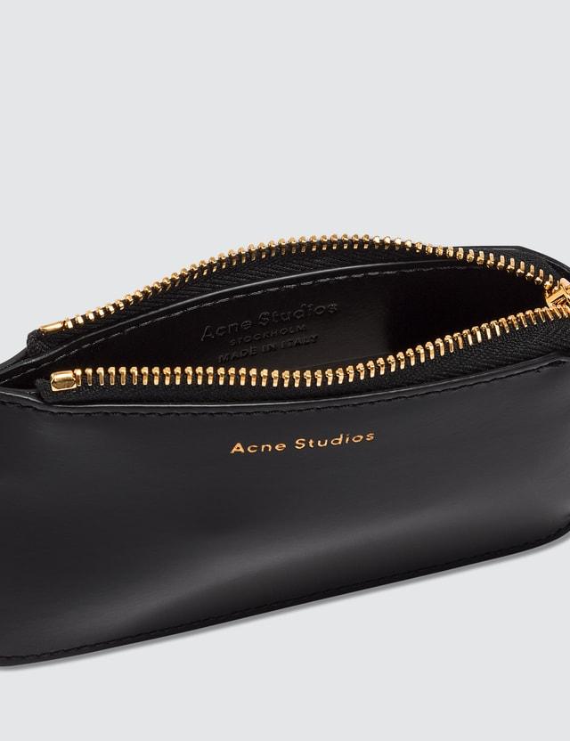 Acne Studios Garnet Shiny Zip Wallet