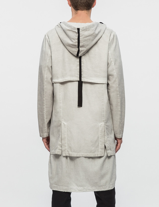 Thom/krom Long Woven Double Layer Parka