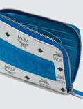 MCM Visetos Original Webbing Curved Zip Wallet