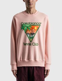 Casablanca Tennis Club Icon Screen Printed Sweatshirt