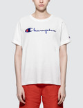 Champion Reverse Weave Oversized Classic Script T-Shirt Picture