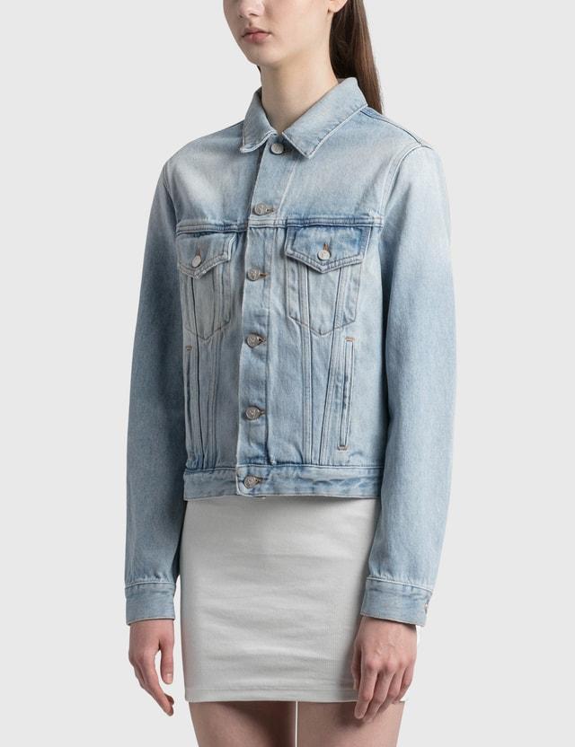 Off-White Denim Jacket Light Blue Multico Women