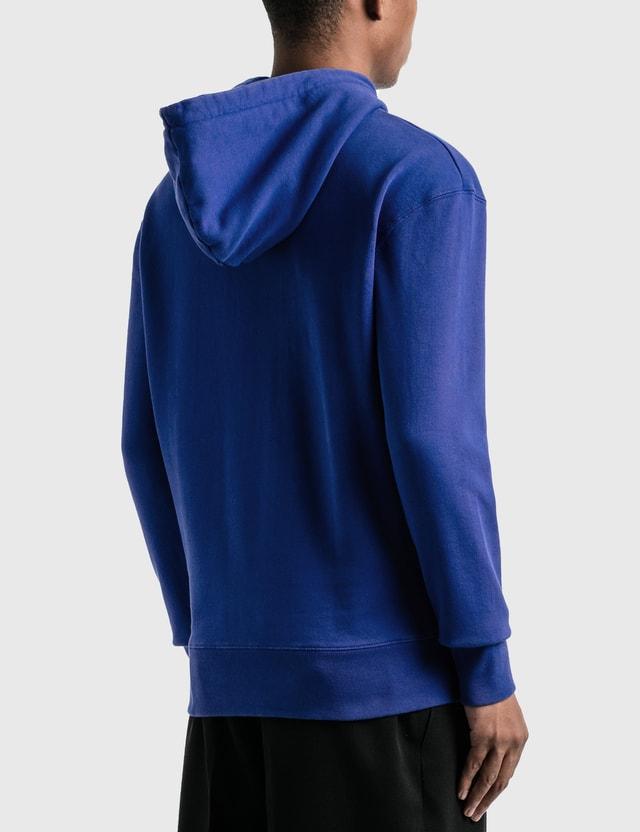 Maison Kitsune Velvet Fox Head Patch Classic Hoodie Blue Men