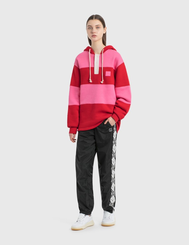Acne Studios Face Motif Stripe Track Pants Black Women