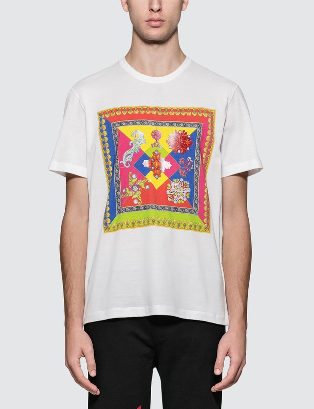 Versace Front Square Print S/S T-Shirt