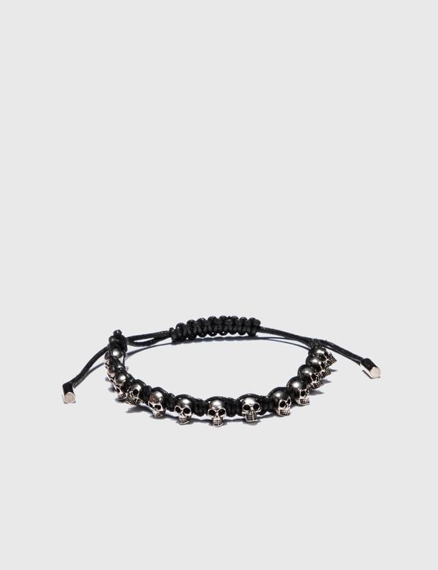 Alexander McQueen Skull Friendship Bracelet Black Men