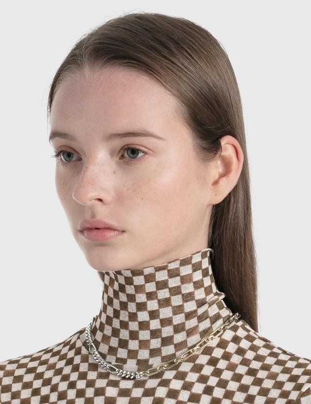 Justine Clenquet Vesper Necklace Palladium And Pale Gold Women