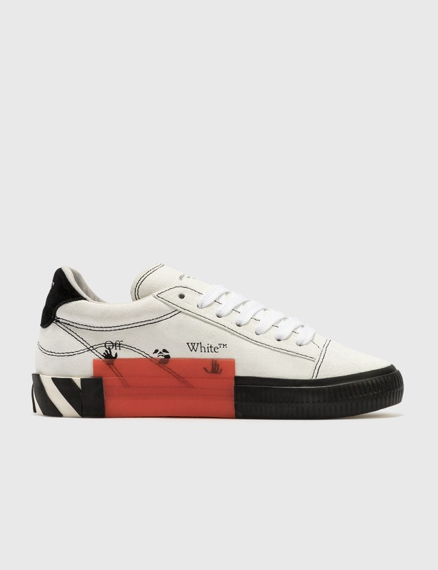 Off-White New Arrow Low Vulcanized Sneakers White Black Women