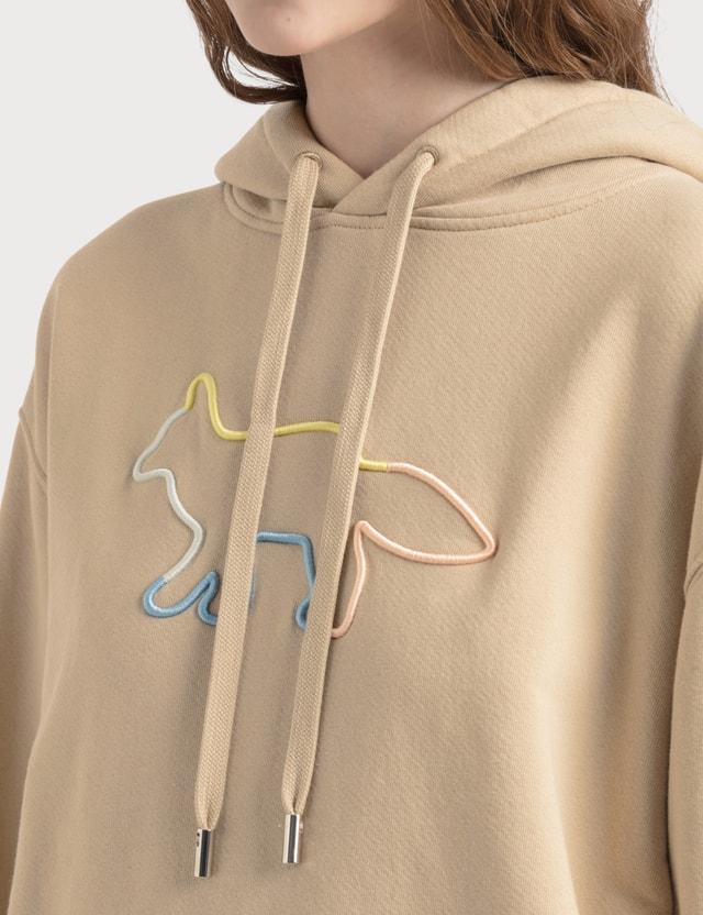 Maison Kitsune Rainbow Profile Fox Embroidery Hoodie