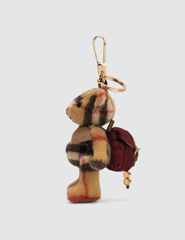 Burberry Thomas Bear Cashmere Charm with Backpack