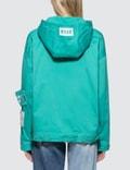 MSGM Devore' Solid Color Bull Denim Jacket Blue Women