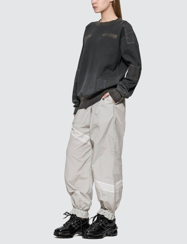 Ambush Bleach Patchwork Sweat Shirt Black Women