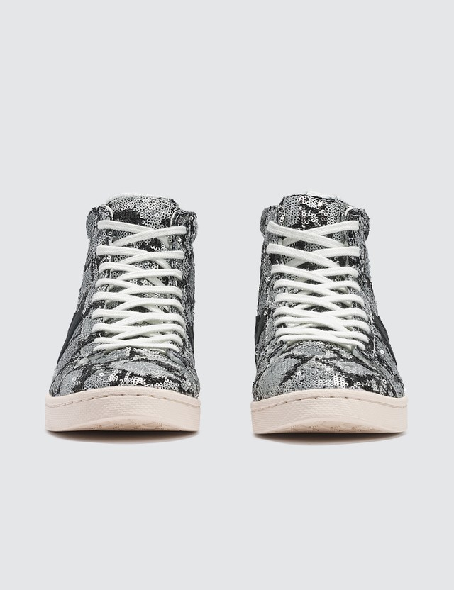 Converse Pro Leather Mid Silver/vintage White Women