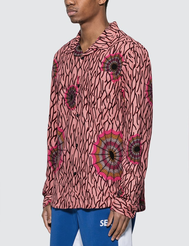 Stussy Spider Web Flannel Long Sleeve Shirt