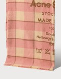Acne Studios Checked logo scarf Picture