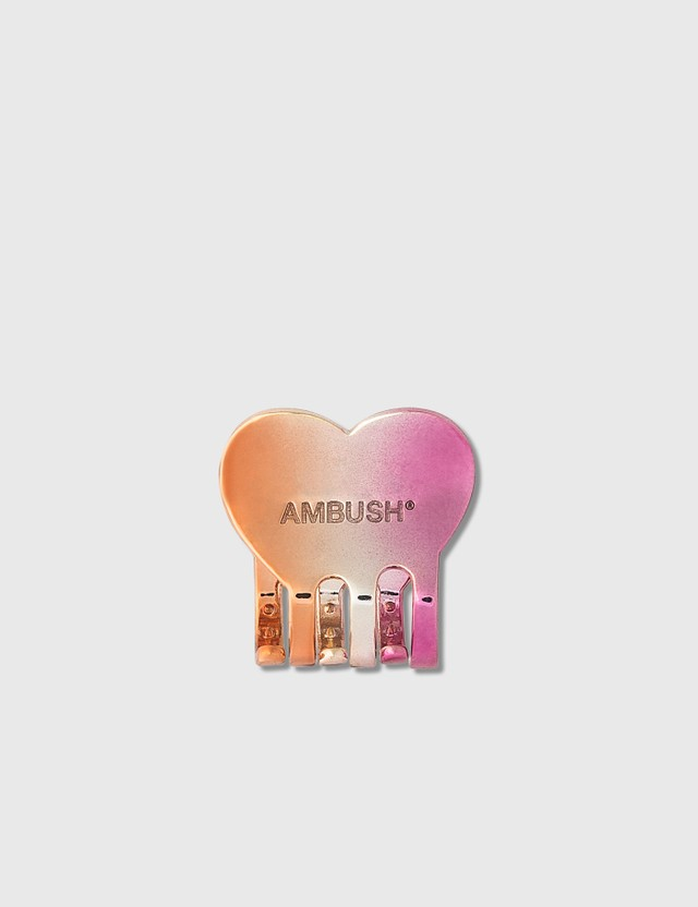 Ambush Heart Hair Clip Small Pink And Orange Pior, Women
