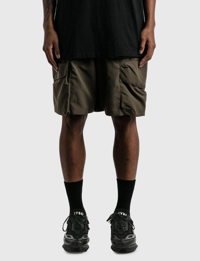 "GOOPiMADE ""DP-3"" Multi-Pocket Utility Shorts Green Men"