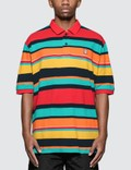 Have A Good Time Colorful Boarder S/S Polo Shirt Picutre