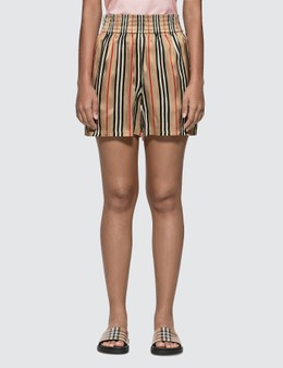 Burberry Icon Stripe Silk Shorts