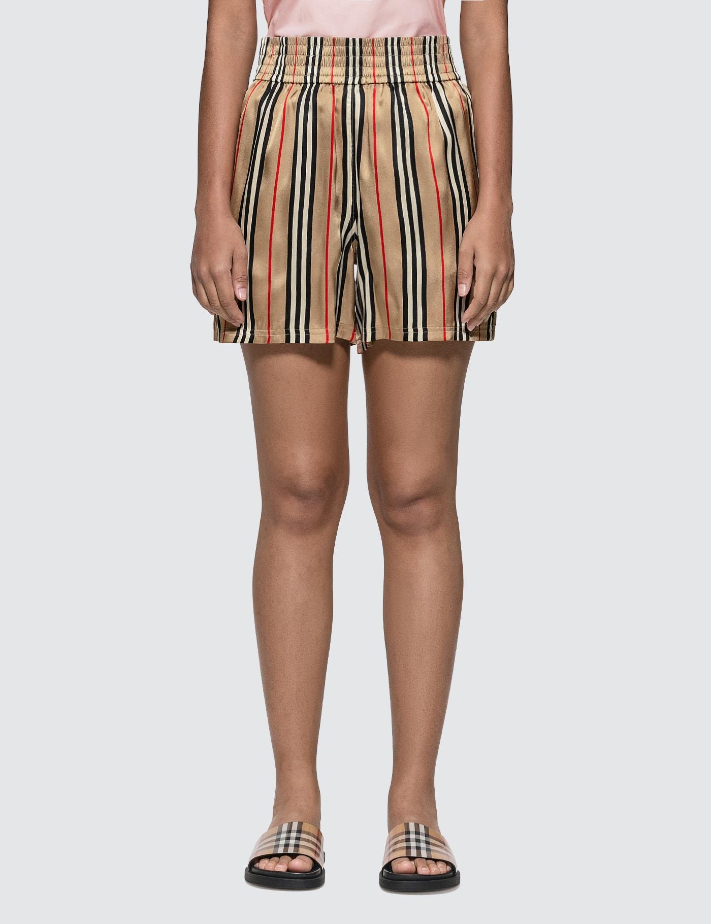 Burberry Icon Stripe Silk Shorts