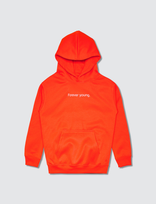 F.A.M.T. Kids' Forever Young Hoodie Neon Orange Kids