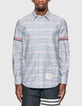 Thom Browne Tattersall Check Grosgrain Arm Band Shirt Picture