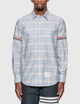 Thom Browne Tattersall Check Grosgrain Arm Band Shirt
