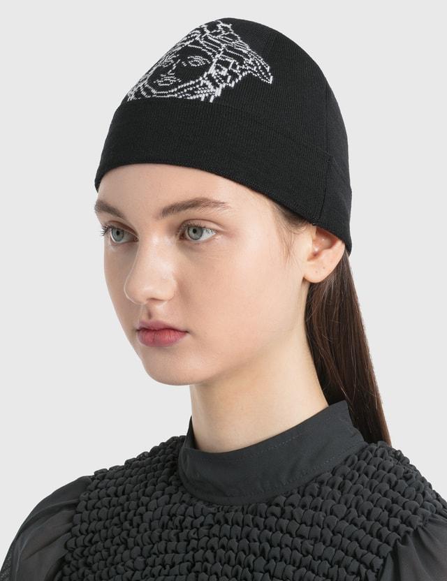 Versace 팝 메두사 울 캡 Nero - Bianco Women