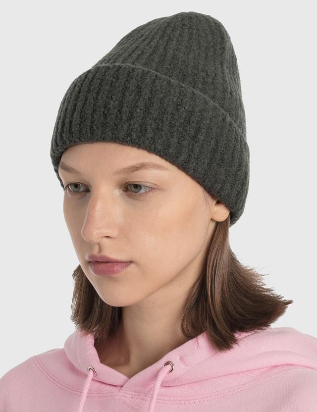 We11done Felted Knit Long Beanie Grey Women