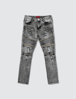 Haus of JR Ragazzi Zipper Biker Denim Jeans