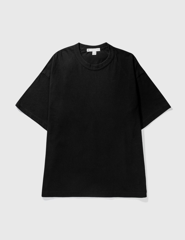 Y-3 Raw Jersey GFX Logo T-Shirt Black Men