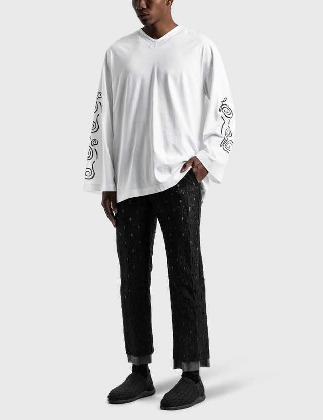 """Sasquatchfabrix. """"MAYOKE"""" Lace Straight Pants Black Men"""