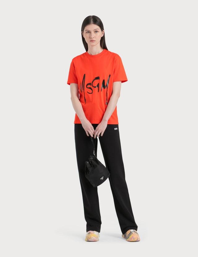 MSGM Spray Logo T-Shirt