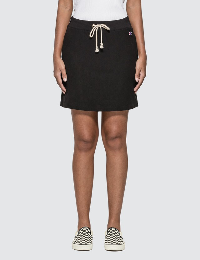 Champion Reverse Weave Big Script Mini Skirt Black Women