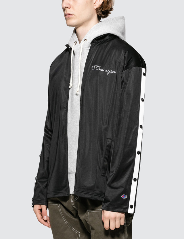 Champion Reverse Weave Track Jacket With Snap Details